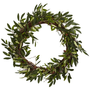 20 Inch Olive Wreath - Free Shipping