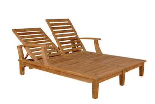 Brianna Double Sun Lounger with Arm - Free Shipping