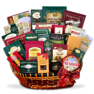 Gourmet Tastes for the Holidays Gift Basket