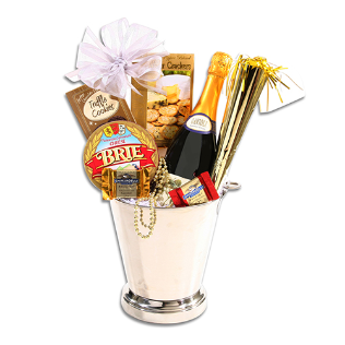 Happy New Year Holiday Gift Basket