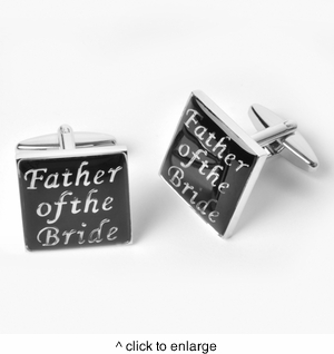Dashing Father of the Bride Cufflinks with Personalized Case