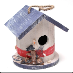 Wood Nautical Birdhouse