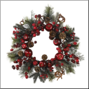 22 Inch Apple Berry Wreath - Free Shipping