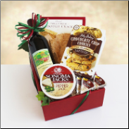 Classic Cabernet Wine and Cheese Gift Box