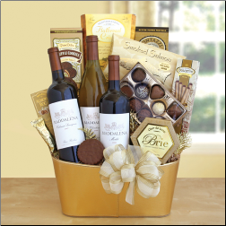 Pure Gold Wine Gift Basket
