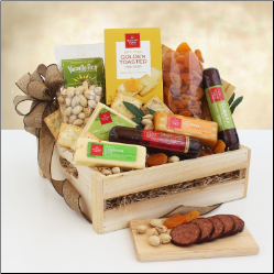 Gift Crate of Meat and Cheese