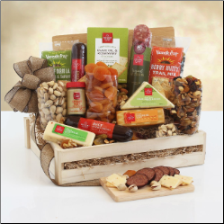Savory Selection of Meats and Cheese Gift Box