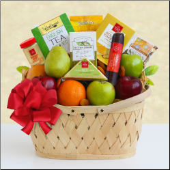 Fresh Fruit Holiday Greetings Gift Basket