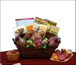 Gourmet Snacking Meat and Cheese Gift Basket