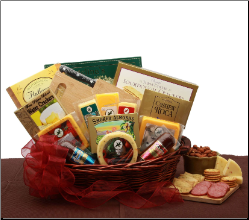 Fine and Fancy Meat and Cheese Gift Basket