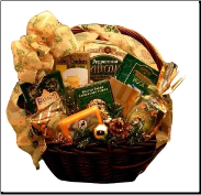 Glitter and Gold Holiday Gift Basket