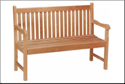 Straight Back 2 Seat Bench - Free Shipping