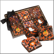 Halloween Triple Chocolate Extra Large Brownies, Gift Boxed Set of 6