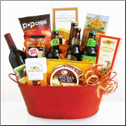 Lets Party! Wine and Beer Gift Basket