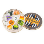 Halloween Mini Cookie Tin of 16