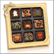 Halloween Chocolate Dipped Mini Crizpy ®- Window Gift Box of 9