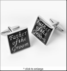 Dashing Father of the Groom Cufflinks with Personalized Case