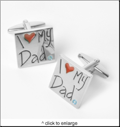 Dashing I Love My Dad Cufflinks with Personalize Case